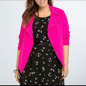 Torrid Hot Pink Moto Jacket Blazer